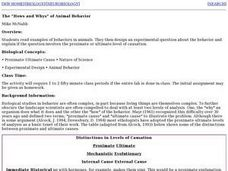 "The ""How's and Whys"" of Animal Behavior Lesson Plan"