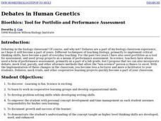 Debates in Human Genetics Lesson Plan