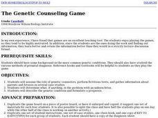 The Genetic Counseling Game Lesson Plan