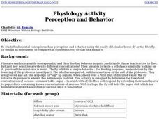 Physiology Activity Perception and Behavior Lesson Plan