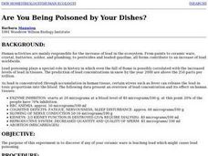 Lead Poisoning and Ceramic Dishes Lesson Plan
