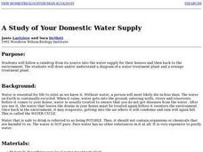 A Study of Your Domestic Water Supply Lesson Plan