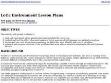 Lotic Environment Lesson Plans Lesson Plan