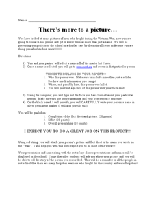 There's More to a Picture… Lesson Plan