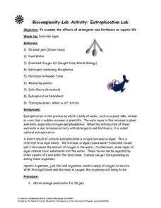 Eutrophication Lab Lesson Plan