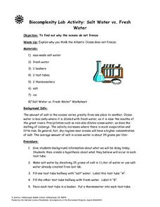Salt Water vs. Fresh Water Lesson Plan