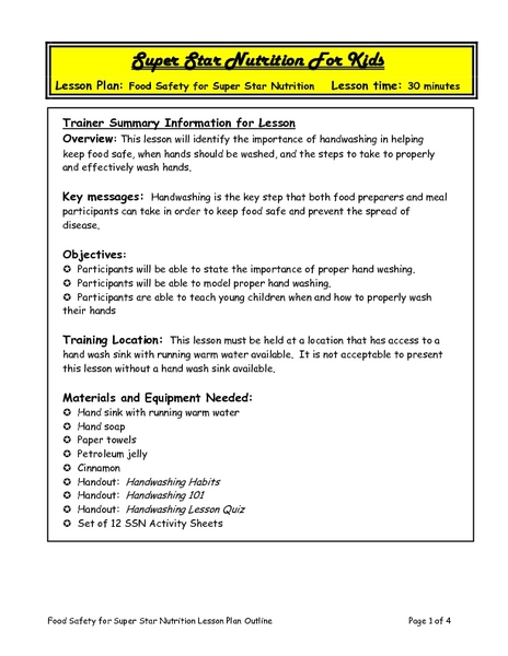 Lesson Plans Running from Safety