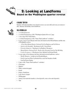 Looking at Landforms-Based on the Washington Quarter Reverse Lesson Plan