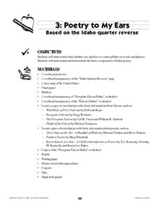 Poetry To My Ears Lesson Plan