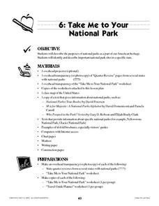 Take Me To Your National Park Lesson Plan