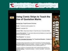 Using Comic Strips to Teach the Use of Quotation Marks Lesson Plan