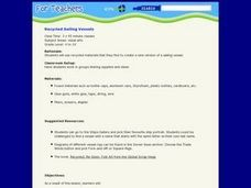 Recycled Sailing Vessels Lesson Plan