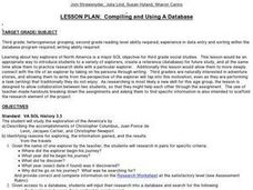 Compiling and Using A Database Lesson Plan