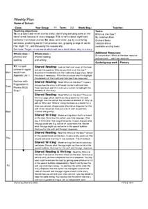 Shared Reading and Writing Why Stories Lesson Plan