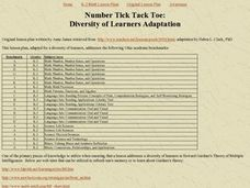 Number Tick Tack Toe Lesson Plan