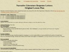 Narrative Literature Response Letters: Original Lesson Plan Lesson Plan