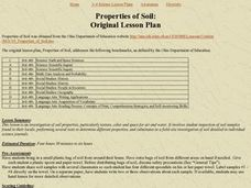 Properties of Soil: Original Lesson Plan Lesson Plan