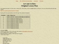 Art and Artists Lesson Plan