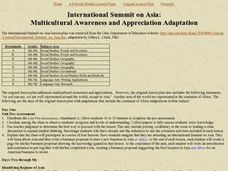 International Summit on Asia Lesson Plan