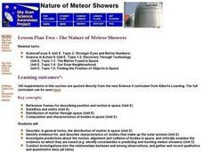 Nature of Meteor Showers Lesson Plan