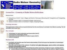 Geometry of Radio Meteor Reflections Lesson Plan
