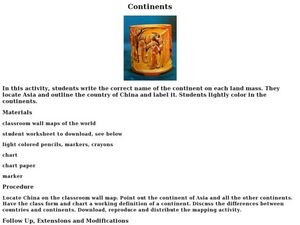 """Continents"" Lesson Plan"