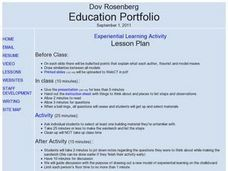 Dov Rosenberg Education Portfolio Lesson Plan