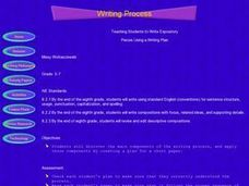 Writing Process: Writing Expository Pieces Lesson Plan