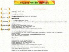 Patterns Present Problems Lesson Plan