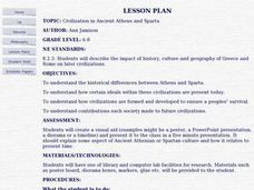 Civilization in Ancient Athens and Sparta Lesson Plan