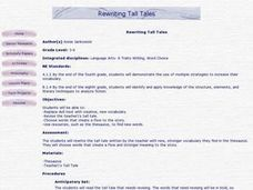Rewriting Tall Tales Lesson Plan