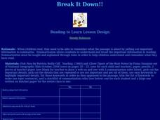 Break It Down Lesson Plan