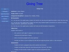 Giving Tree Lesson Plan