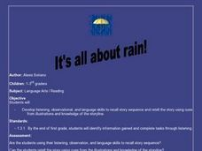 It's All About Rain! Lesson Plan