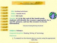 Exciting Earth Book Lesson Plan
