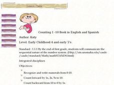 Counting 1 -10 Book in English and Spanish Lesson Plan