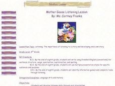 Mother Goose Listening Lesson Lesson Plan