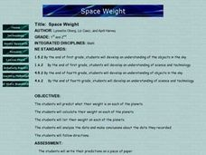 Space Weight Lesson Plan
