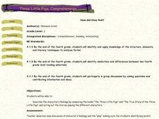 Three Little Pigs, Comprehension Lesson Plan