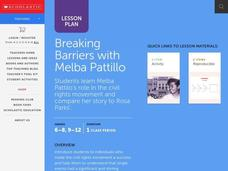 Breaking Barriers with Melba Pattillo Lesson Plan