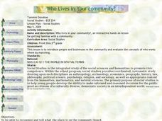 Who Lives in Your Community? Lesson Plan
