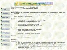 The Twits- The Beginning Lesson Plan