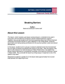 Breaking Barriers Lesson Plan