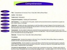 Comprehension For Trick or Treat Little Critter Lesson Plan