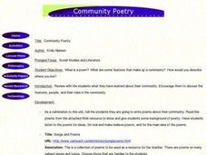 Community Poetry Lesson Plan