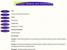 Locomotor Patterns and Combinations Lesson Plan