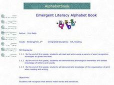 Emergent Literacy Alphabet Book Lesson Plan