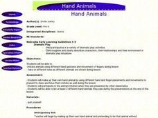 Hand Animals Lesson Plan