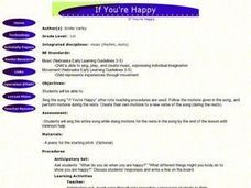 If You're Happy Lesson Plan