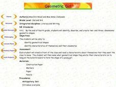 Geometric Girl Getting to Know You Activity Lesson Plan